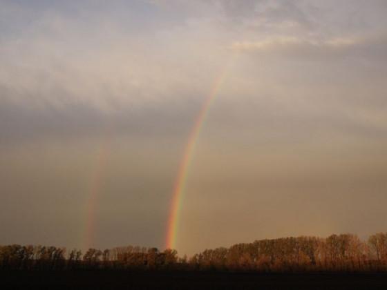 Regenbogen nach Sturm am 27.10.2013